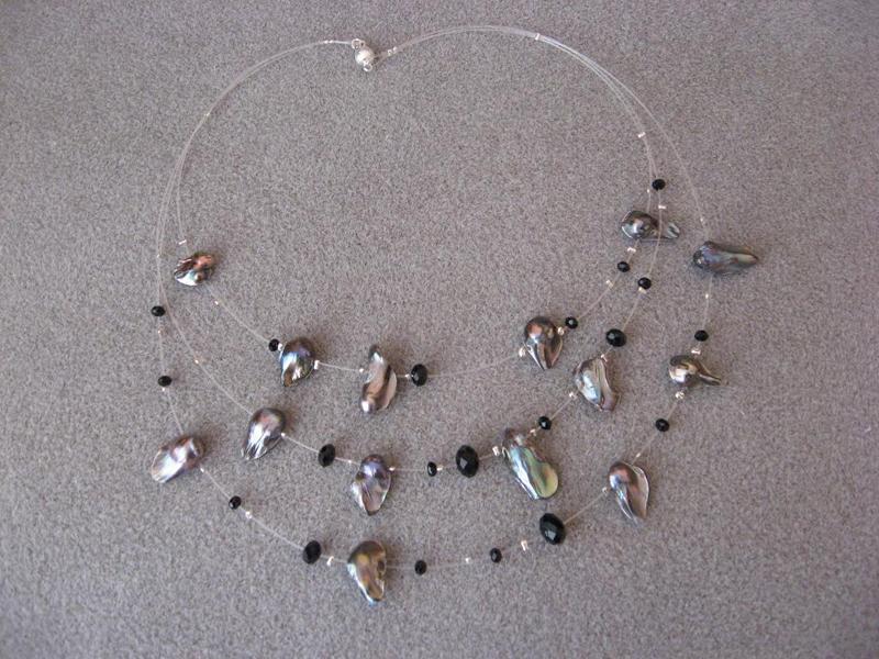 Комплект от естествени перли и циркони - автор Йорданка Христова